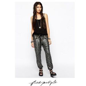 Free People | Sequin Jogger Pants Gunmetal